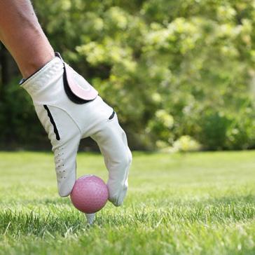 Pink Golf Ball on Tee