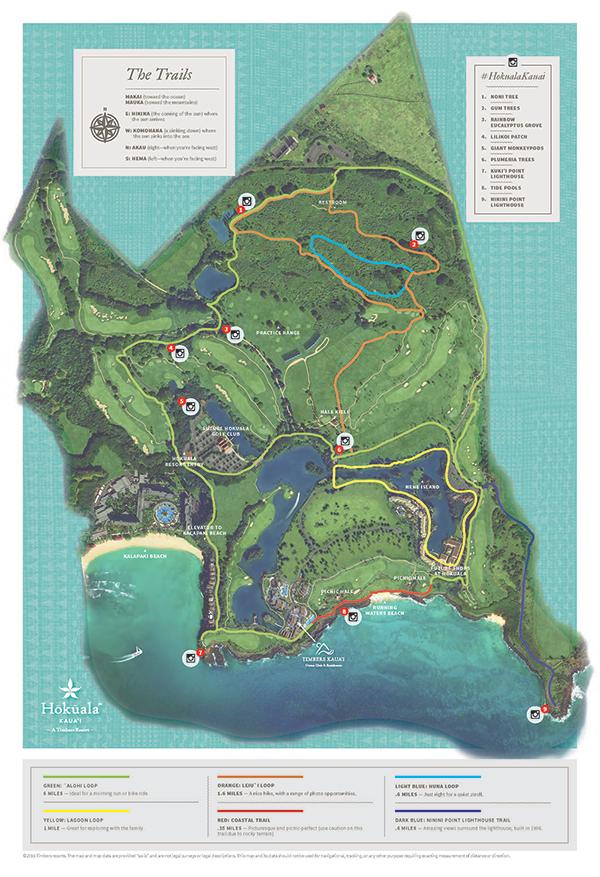Hokuala Golf Trail Map