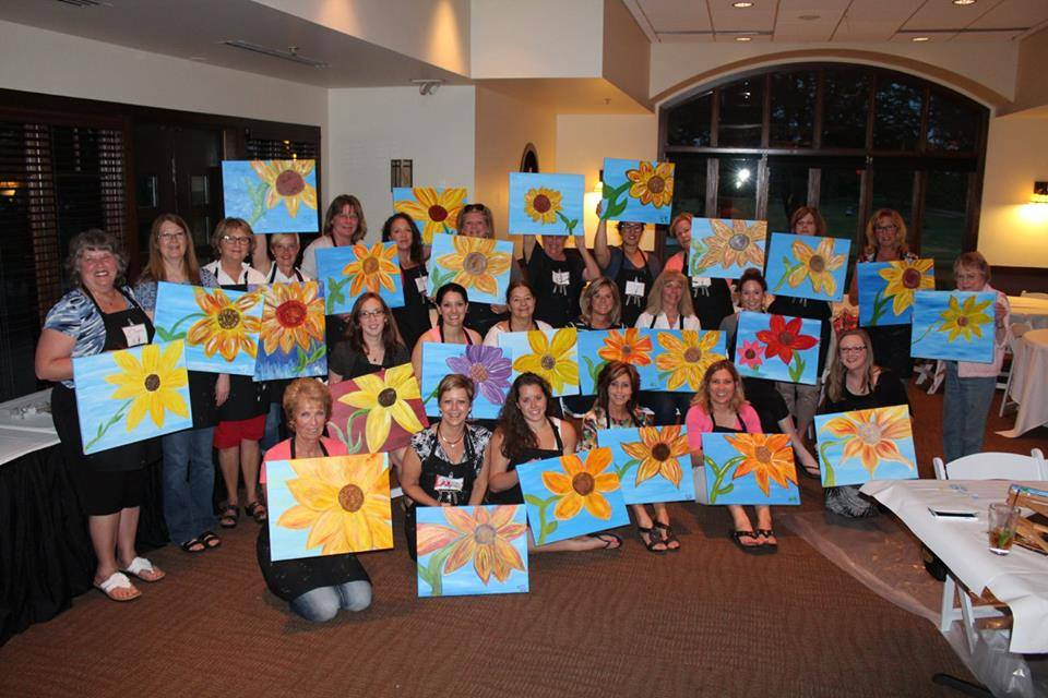 Paint Night at Orchard Valley Golf Course