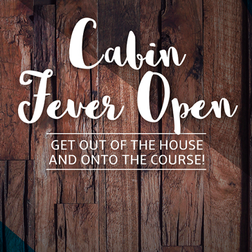 Cabin Fever event at golf course