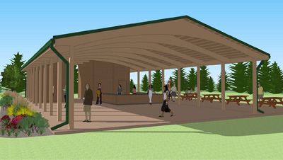 Pavillion Rendering for future building at Jack frost national golf course