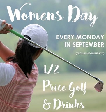 womens golf day  - mondays in september at joe louis golf course