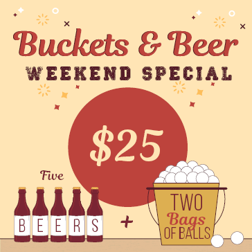 Buckets Beer Weekend Special