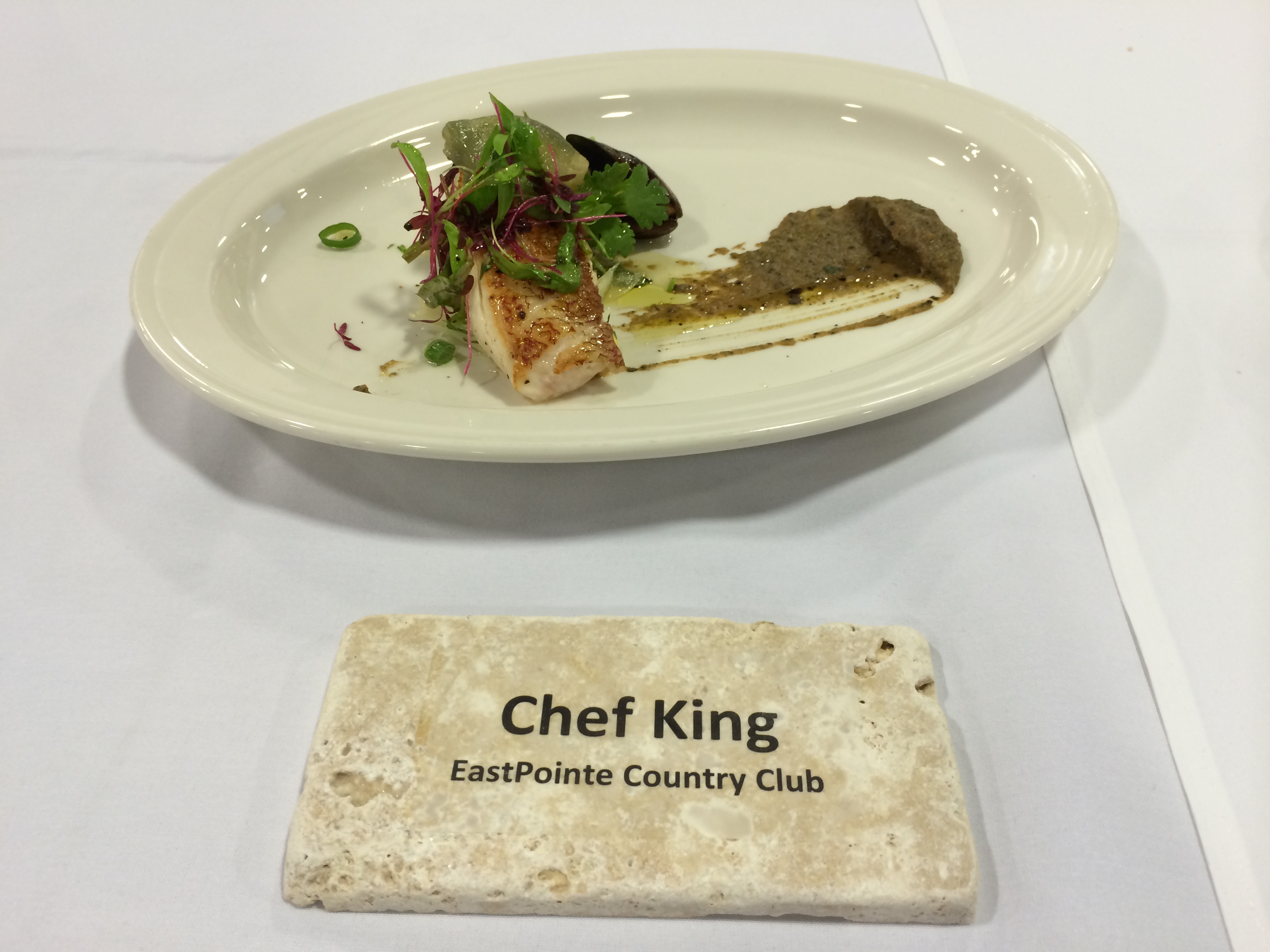 Chef James King plate