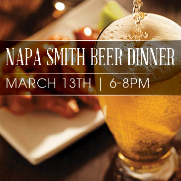 Napa Smith Beer Dinner at Hiddenbrooke Golf Club