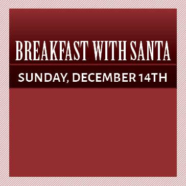 Breakfast with Santa at Hiddenbrooke Golf Club Sunday December 14th