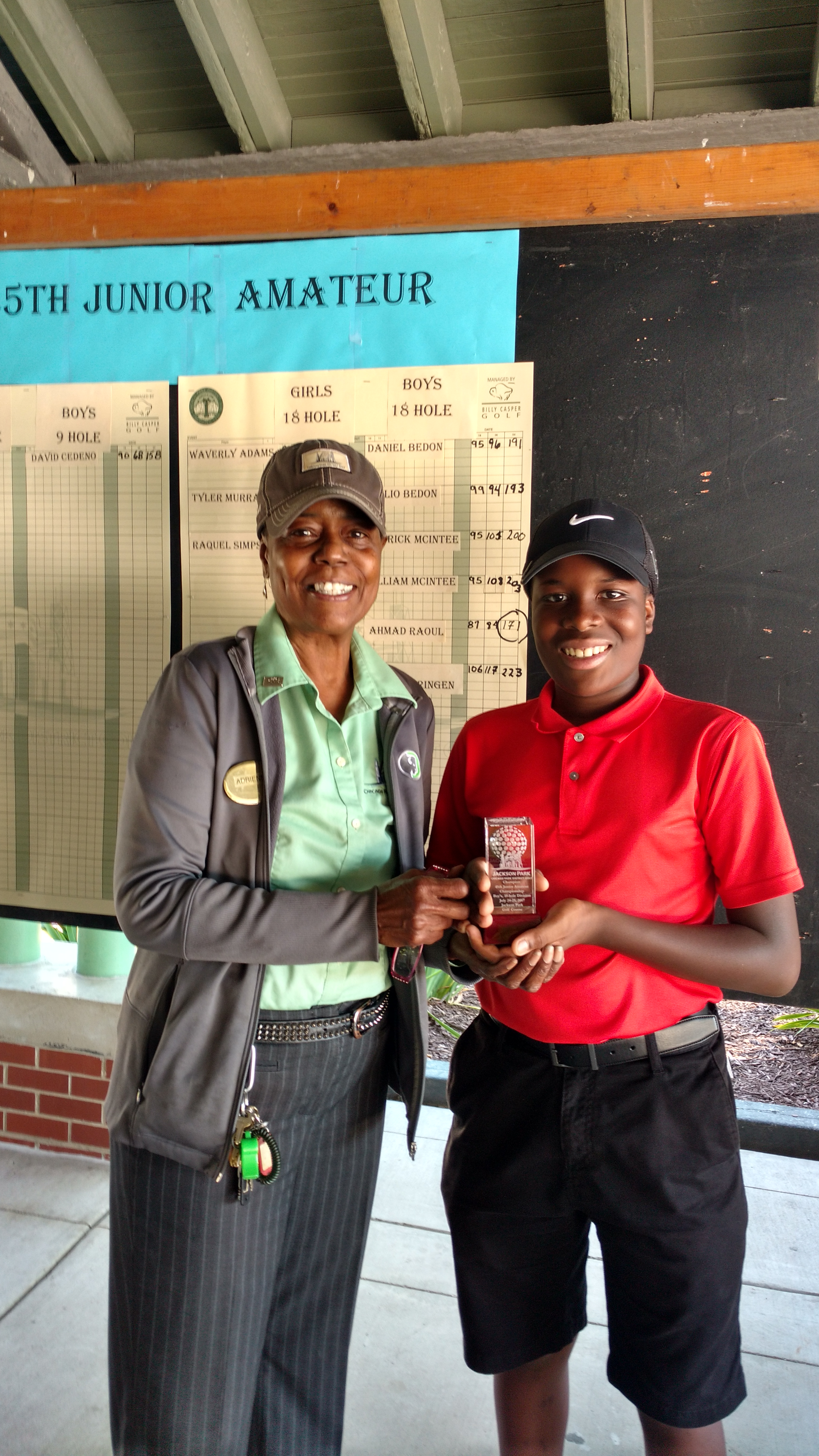 45th Junior Amateur Boys 18 Hole Winner Ahmad Raoul
