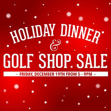 Holiday Dinner and Pro Shop Sale at Fernandina Beach web banner