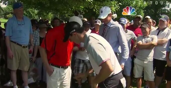 Rory in fan's pocket