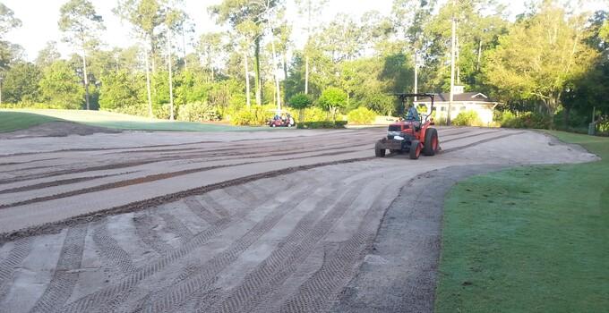 St. Johns Practice Green Work Pics