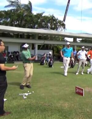 Asian Tour trick shots