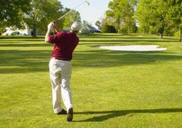 Cranbury Practice Facility Man in Swing