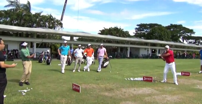 Asian Tour trick shots