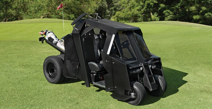 Hammacher Dark Knight Golf Cart