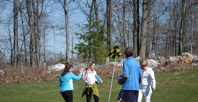 Footgolf being played at a Billy Casper Golf golf course in America.