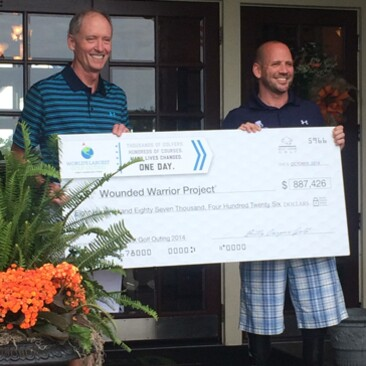 2014 WLGO Check Presentation to Wounded Warrior Project