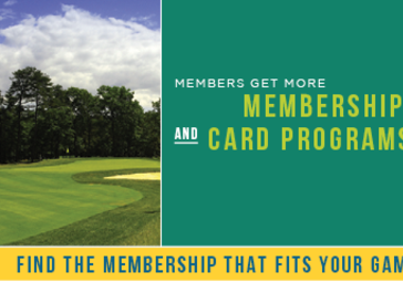 memberships and card programs at golf course