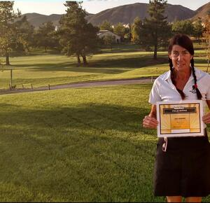Women on Course Member Lisa Jennings has first hole in one at Yucaipa Valley