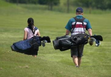 Father Daughter Walking Bags