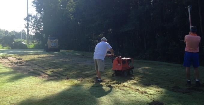 Bent Creek teebox renovation