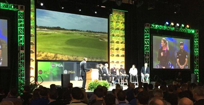 Olympic Golf Panel - Suzann Pettersen and Graeme McDowell