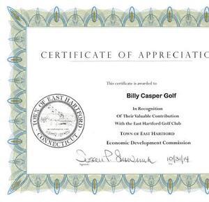 East Hartford certificate
