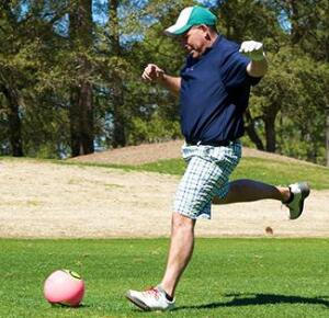 FootGolf, the widely popular golf-soccer combination.