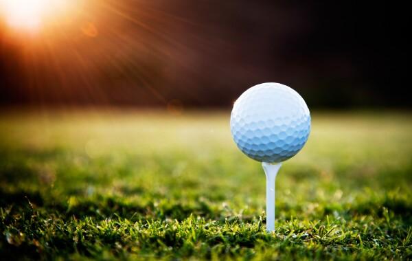 Antelope Hills Golf Coures golf ball on tee