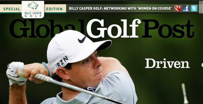 Rory McIlroy on Global Golf Post cover