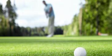 A golfer making the putt!
