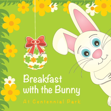 Breakfast With The Bunny at Centennial Park in Munster, Indiana