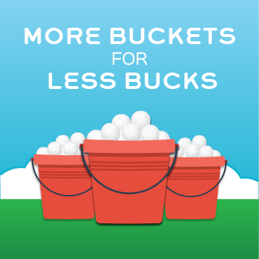 More Buckets for Less Bucks