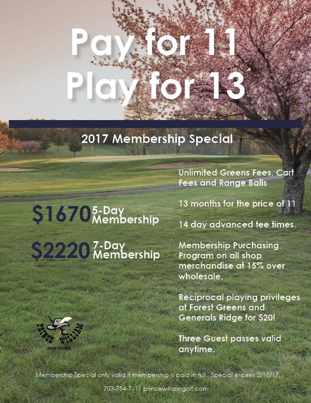 2017 PWGC Membership Special