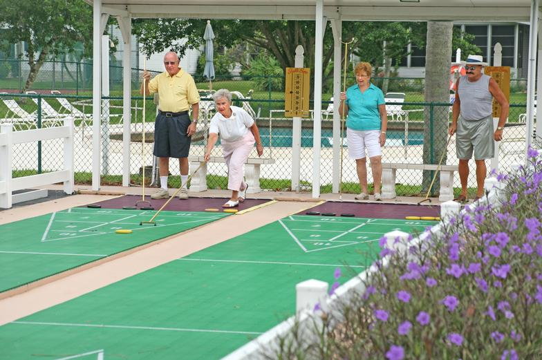 indianwood golf and country club people playing shuffleboard