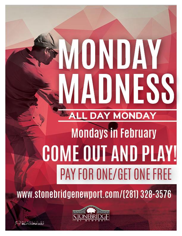 monday madness flyer for stonebridge