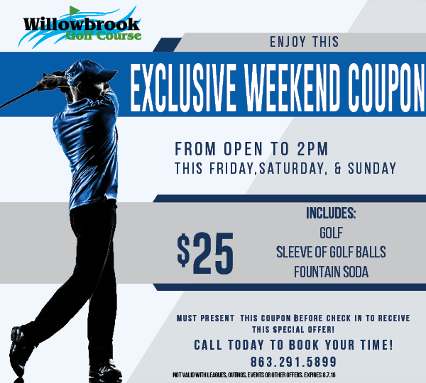 WILLOWBROOK GOLF COURSE WEEKEND SPECIAL WINTER HAVEN FL 33881