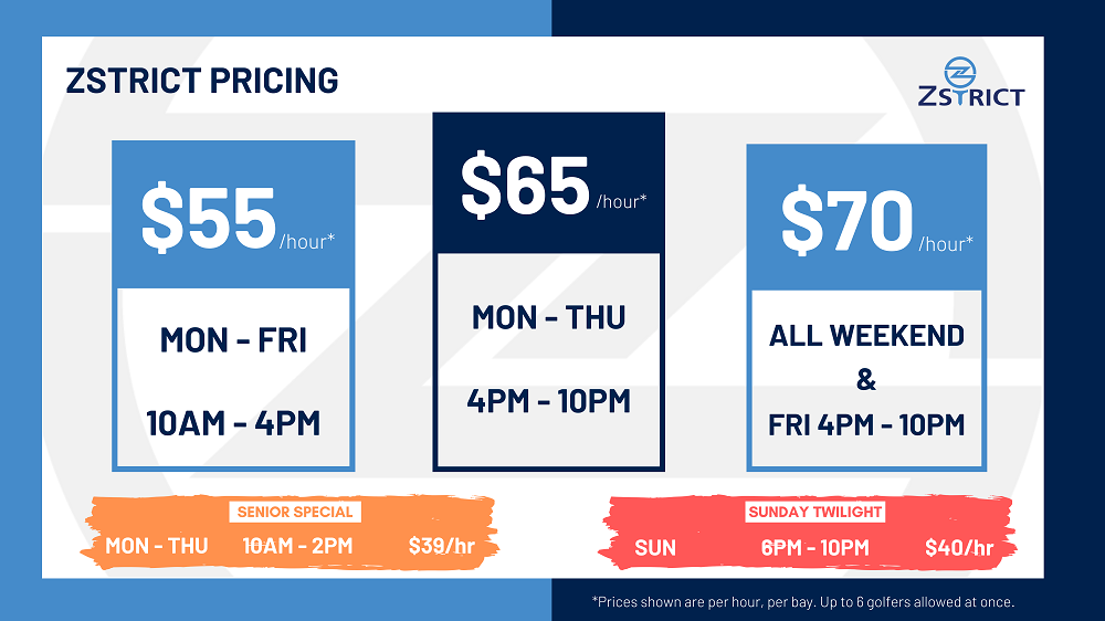 ZSTRICT Bay Pricing Chart