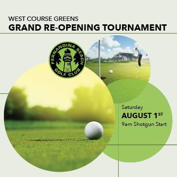 West Course Greens Grand Re-Opening Golf Tournament at Fernandina Beach Golf Club in Ameila Island, FL