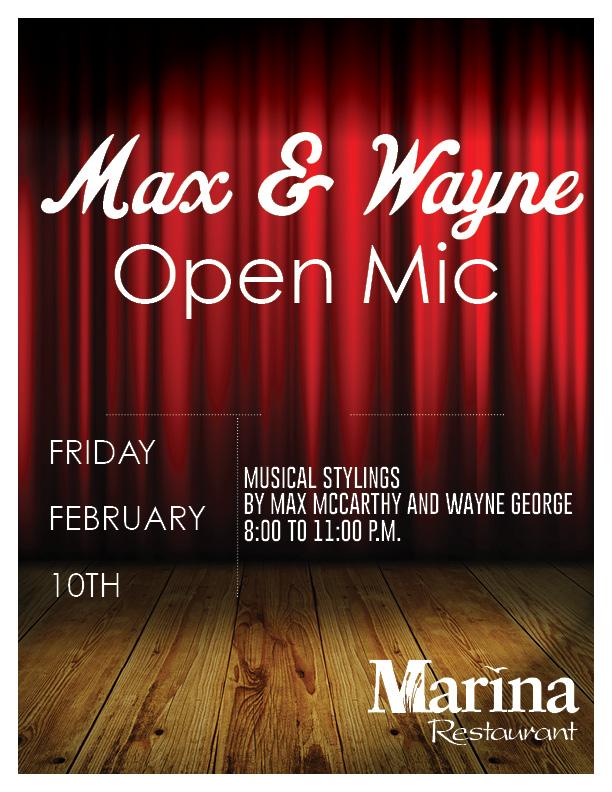 Open Mic Featuring Max & Wayne
