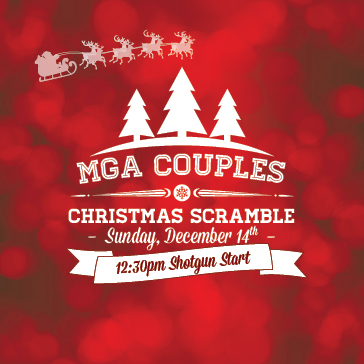 MGA Couples Christmas Event Web banner at Sun N Lake Golf