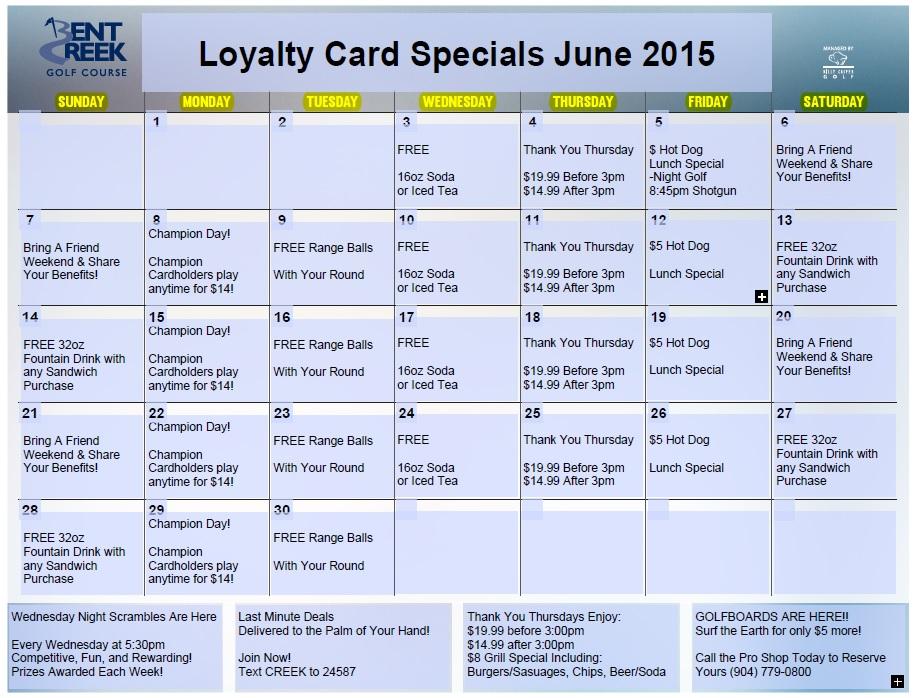 June Loyalty Calendar