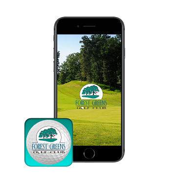 Forest Greens App banner - phone icon