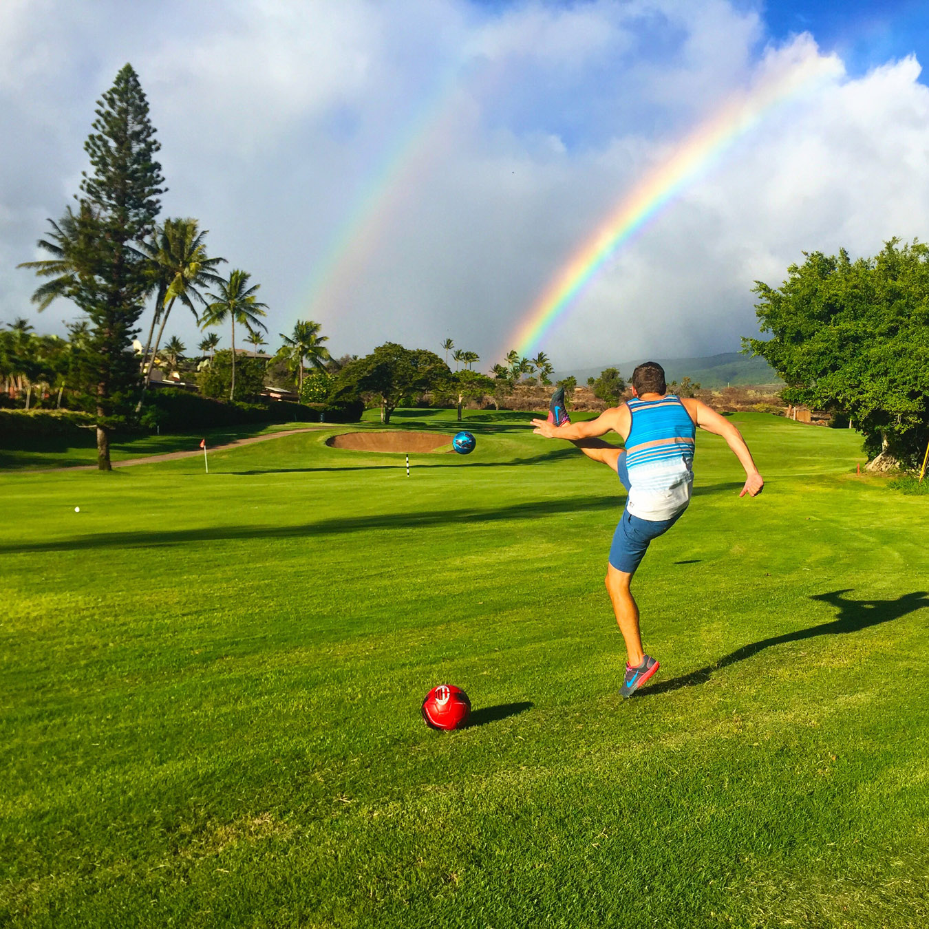 FootGolf Action Shot at Kaanapali