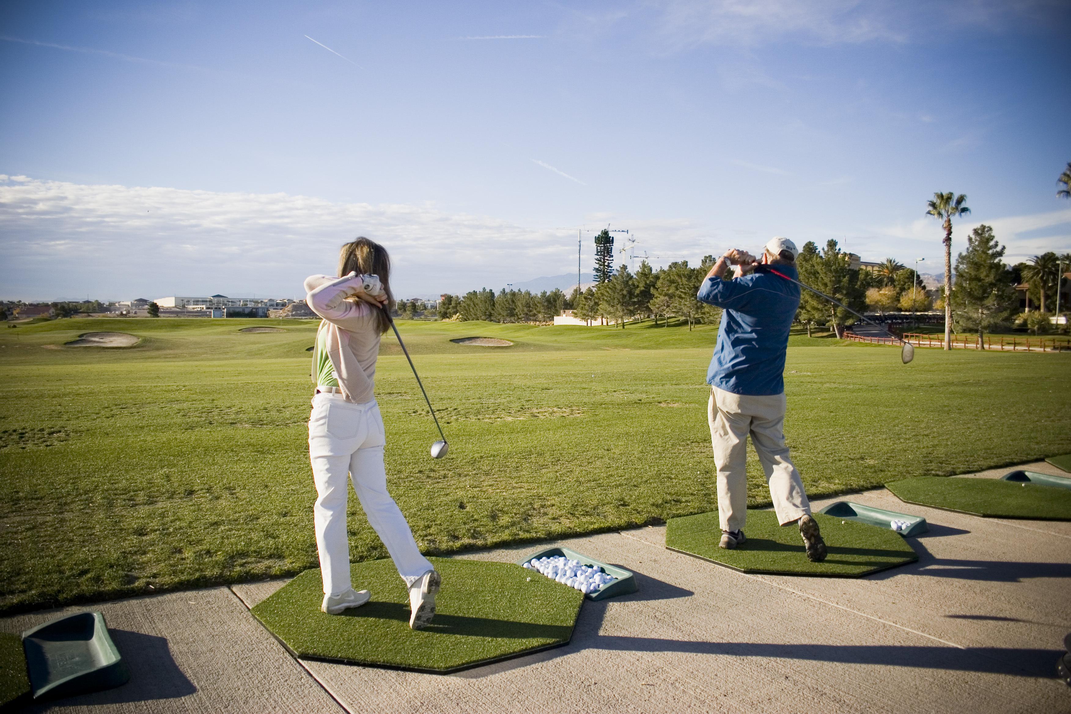 Golf - Golfers - Range Shot - Practice
