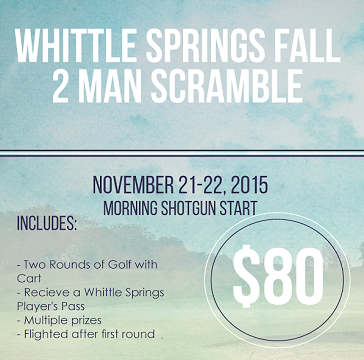 Whittle Springs Fall 2 man scramble event