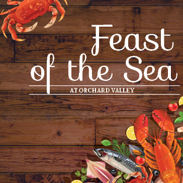 Seafood Feast at Orchard Valley Golf Course in Aurora, Illinois