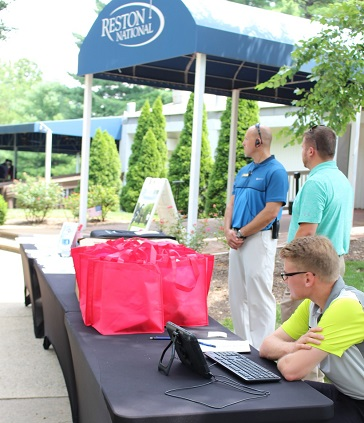 Reston National Golf Course setup for golf outing