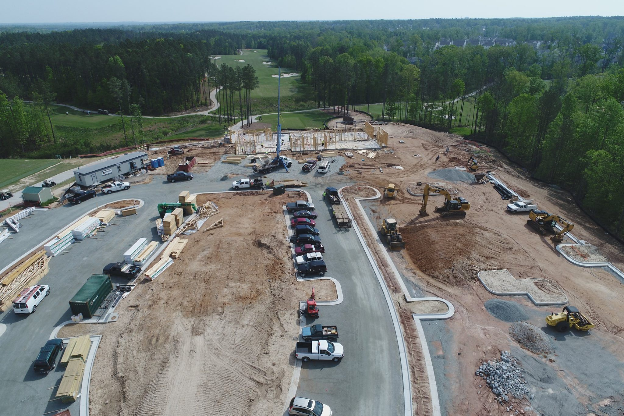 Magnolia Green new golf clubhouse and restaurant construction photos - April 2017