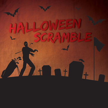 Halloween Scramble event at golf course